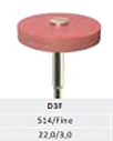 ATTRITOR - Dura Wheel - Fine PINK -Silicone Diamond Wheel - for shining -scratch removal - leaves satin finish on all porcel