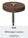 ATTRITOR - Dura Wheel - Super Coarse BROWN - Silicone Diamond Wheel - for fast shaping -scratch removal - leaves satin finis