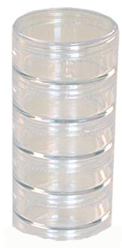 STACKABLE JARS, 52MM SET OF 5