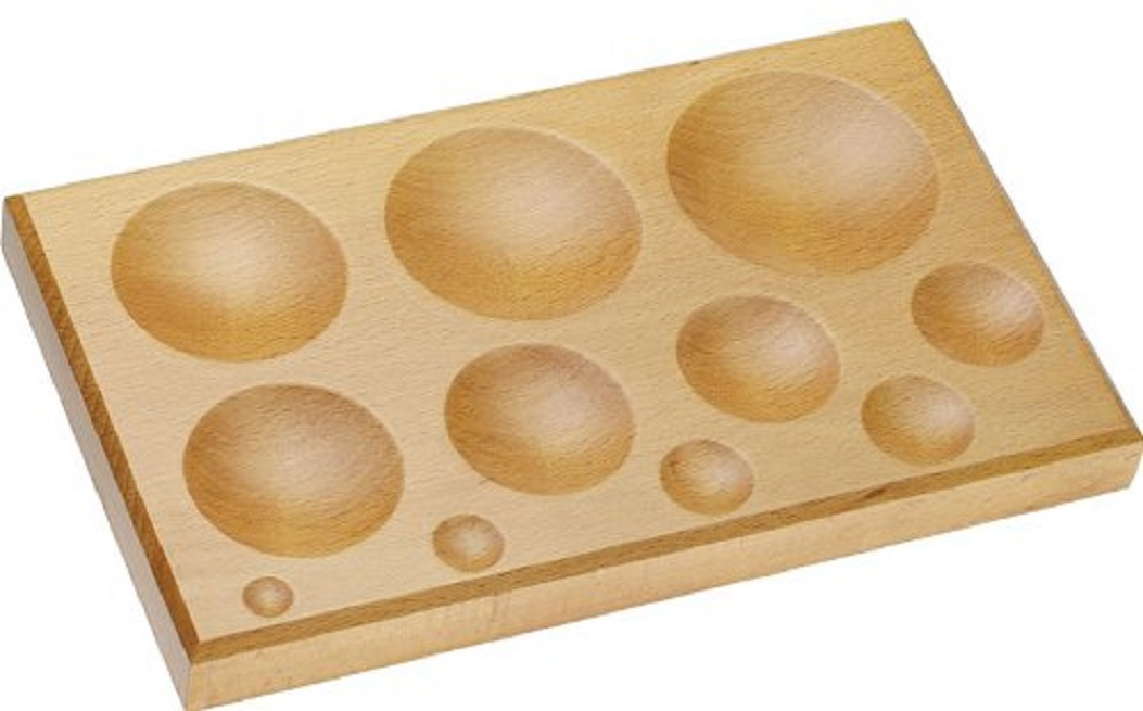 WOODEN BLOCK With 11 ROUND Depressions