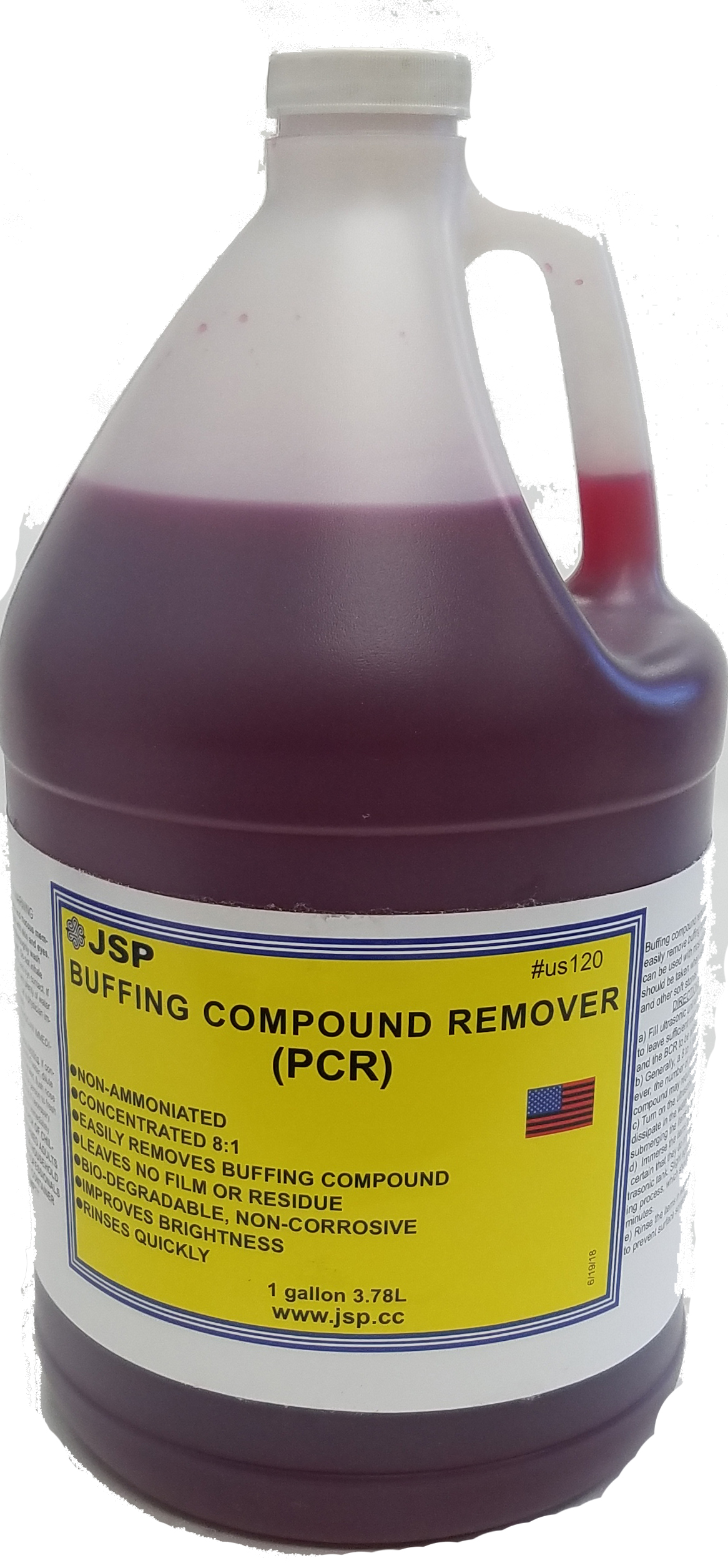 BUFFING COMPOUND REMOVER,1 GALLON